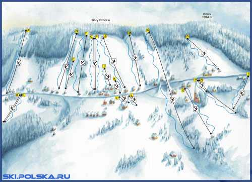 Карта горонолыжных трасс